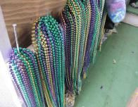 Mardi Gras beads are popular in Biloxi.