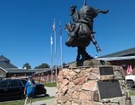 Steer-Riding Sculpture at Cheyenne Frontier Days