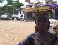 Girl Selling Food on the Street in Nigeria