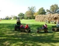 There are fun rides and lots of fruit picking at Merrymead Farm.