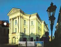 Outside the Prague Estates Theatre.