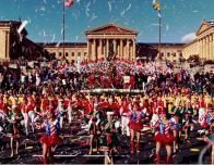 Thanksgiving Day Parade Terminates at the Philadelpia Museum of Art