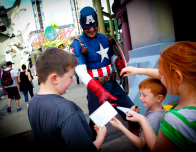 Meet and greet your superheroes at the Orlando themeparks.