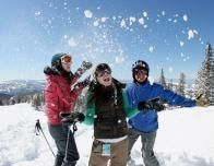 Teens Play in the Snow at Brianhead, Utah