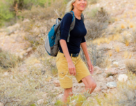 Author Deborah Hall Taking a Hike Near Las Vegas' Downtown Strip