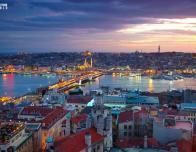 Istanbul Skyline at dusk; photo courtesy Turkish Airlines via facebook.