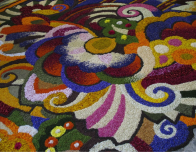 A work from the Infiorata competition in Spello, Italy.