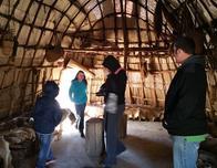 Recreation Powhatan Indian village at Jamestown Settlement, Virginia.