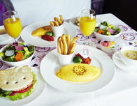 "The Keio Plaza hotel featured a ""Hello Kitty"" themed breakfast"