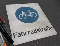Public bike lanes in Karlsruhe