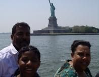 Kayla Going to the Statue of Liberty