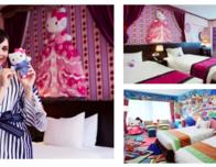 the 2018 Hello Kitty in a yukata model at Keio Plaza Hotels.