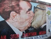 Brezhnev kissing Honecker, Berlin Wall