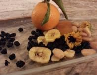 In-room snacks have a healthy flair: local Marcona almonds and oranges decorate each plate.