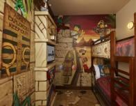 A preview of an Adventure themed room at Legoland Florida Hotel.