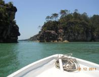 Departing Boat Ride from the Beautiful Island of Borneo.