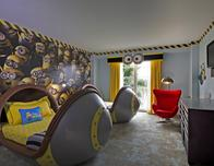 """Despicable Me """"Minions"""" kids suite is one lodging option for families."""