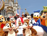 Celebrating at the Magic Kingdom, Walt Disney World.