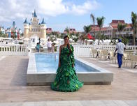 Mermaid at Luxury Bahia Principe Punta Cana.
