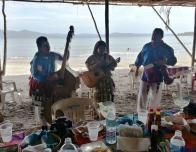 Mariachi serenade us after a beachfront feast and a swim at Las Islitas.