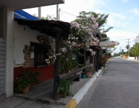 The main street of San Blas is never very busy, making it fun for bike riding.