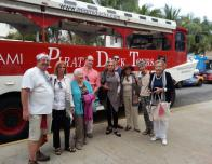 Our group with Pirate Kenny on the Miami Duck Pirate Tour.