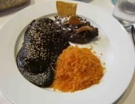 The dark, rich chocolately Mole sauce is a key ingredient in Poblano cooking.