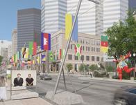 Montreal open air art exhibt celebrates Expo67