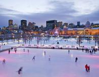 Ice skating rink at the Old Port in Montreal; c. MTTQ Pictures Canada