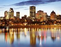 Montreal skyline seen from Parc Jean Drapeau; c. Tourisme Montreal