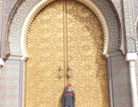 Me, Standing Outside the Gates of the Royal Palace. Taken in Morocco.