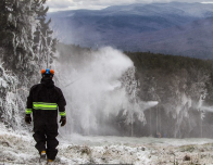 snow making at Loon Mountain, New Hampshire.