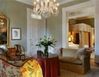 Suite at the Soniat House, a historic French Quarter hotel.