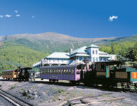 Cog Railway's Marshfield Station in Bretton Woods, New Hampshire.