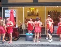 The annual Red Dress Run Charity Race is one of more than 500 New Orleans' festivals each year.