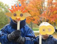 National Parks Service workshop introduces kids to animal masks.