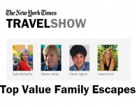 """""""Family Escapes"""" Workshop Panelists at New York Times Travel Show 2015."""