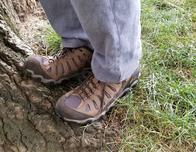 Oboz Sawtooth shoes worn by Ron Bozman, photo c. Ron Bozman