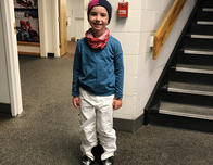 Dressed and ready for the slopes.