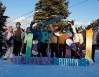 Burton LTR students pose together at Camelback, Pennsylvania.