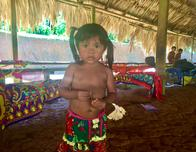 Embera village girl in Panama.