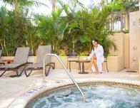 Palm Beach Marriott Singer Island outdoor spa area.