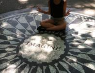 The Imagine Mosaic at Strawberry Fields in Central Park
