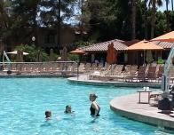 Playing in the pool at the Pointe Hilton Squaw Peak in Phoenix.