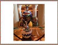 The atrium aboard the Emerald Princess is decked out for Easter.