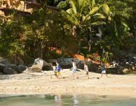 Playing on Las Caletas Beach off the coast of Puerto Vallarta.