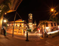 Puerto Vallarta town square at night