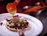 A serving of tacos de carnitas