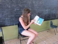Madeleine Reads to the Local Kids