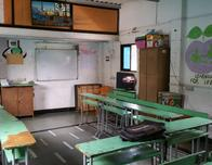 Classroom funded by tourists and run by Reality Tours in slums of Mumbai, India